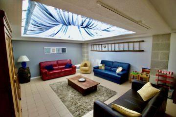 VeloGites Gite de la Bussiere lounge area